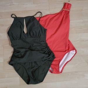Swim suit bundle Michael Kors Ellen tracy size 10